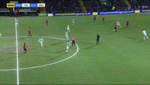 1,47 Alexis Sanchez Motions for the Ball to launch a Counter-Attack Catching 8 of Yeovil's 11 players in United's Half