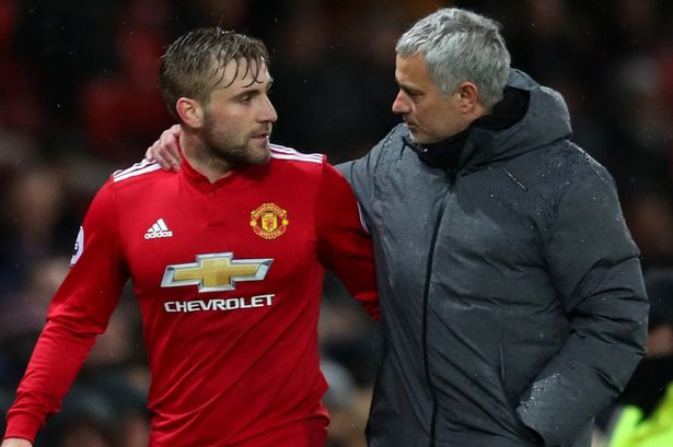 Jose Mourinho Hand Around Luke Shaw Left Full Back